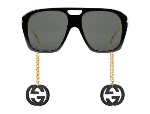 Gucci vierkante zonnebril met bedels