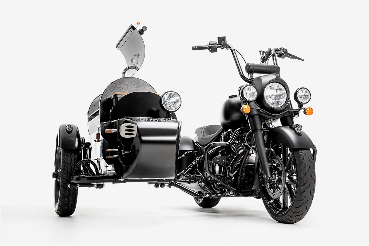 Indian Motorcycle en Traeger motor BBQ