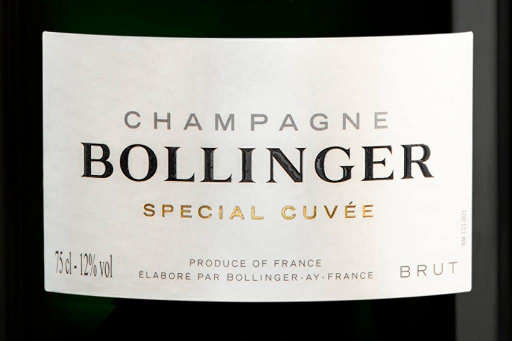 Limited edition Champagne Bollinger Special Cuvée 007 - No Time to Die