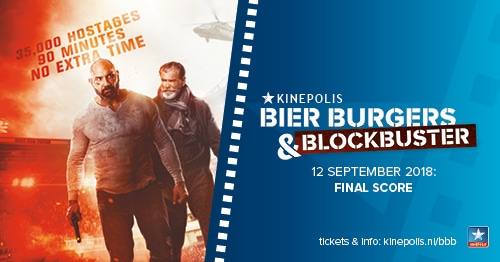 Final Score Kinepolis bioscoop deal: bier & burgers €1