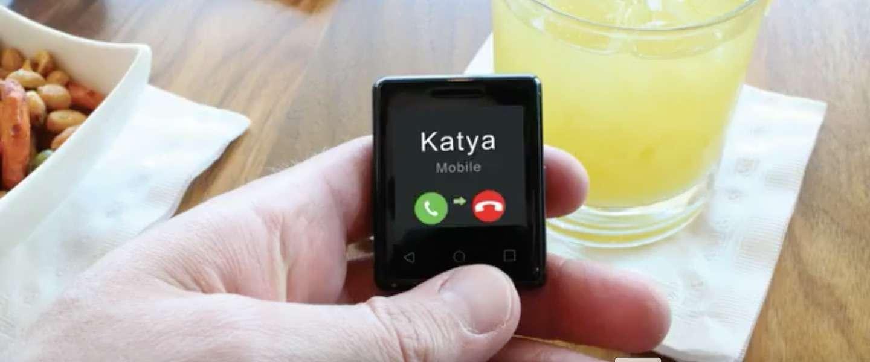 nanite - kleinste mobiele telefoon ter wereld smartphone