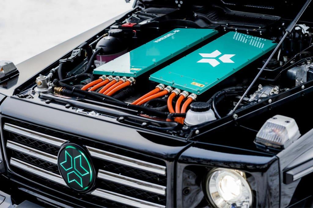 Kreisel volledig elektrische Mercedes-Benz G-Klasse