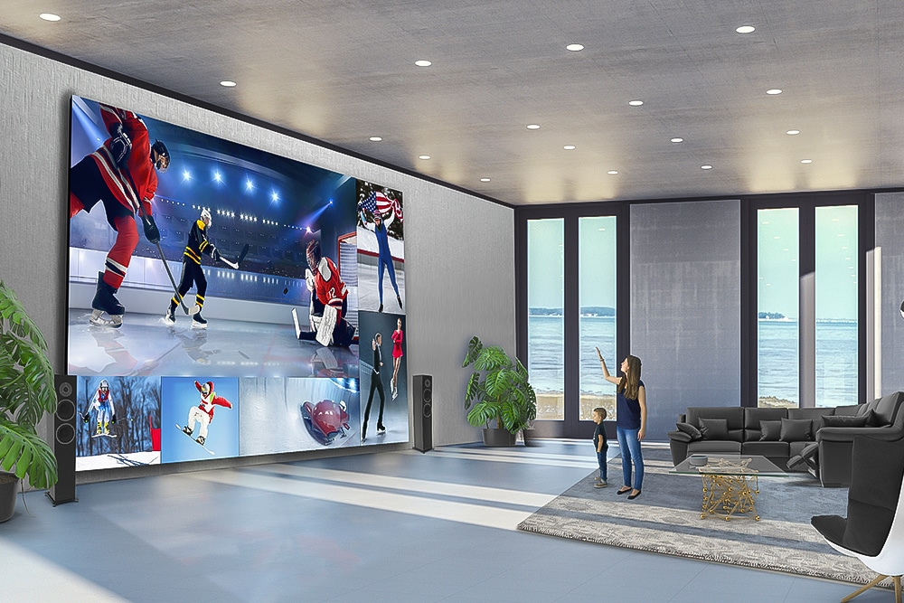 8K 325-inch LG DVLED Extreme Home Cinema 32:9-tv