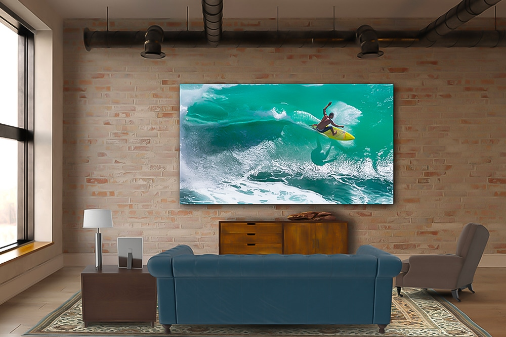 LG's 8K 325-inch DVLED Extreme Home Cinema 32:9-tv
