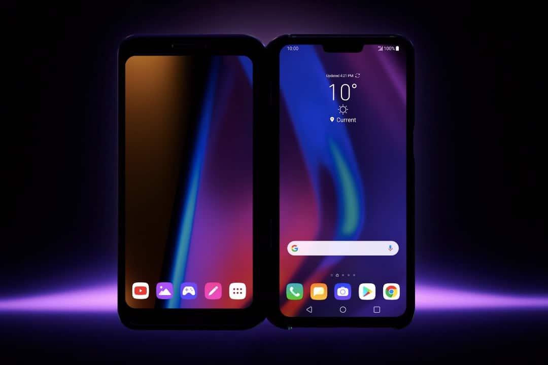 lg triple screen smartphone video drievoudig scherm