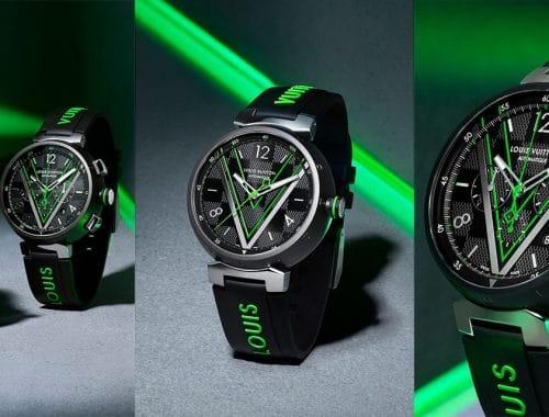 louis vuitton Tambour-Damier-Graphite Race horloge kleur