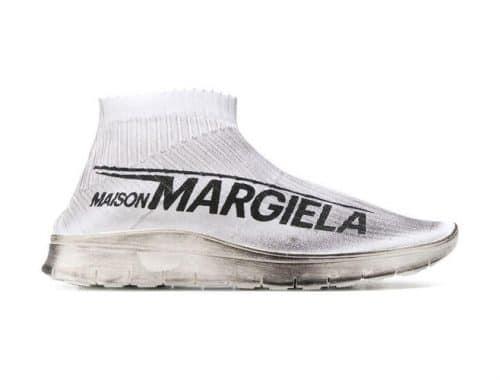 Maison Margiela Dirty Logo Print Sock Sneaker