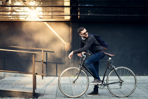 fietsen naar werk gezond milieu