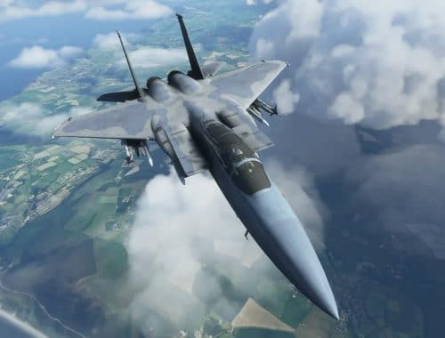 microsoft flight-simulator - f-15 fighter jet straaljager- dc designs