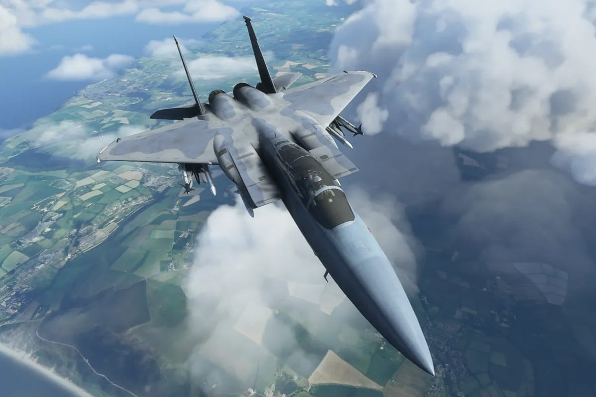 microsoft flight-simulator - f-15 fighter jet straaljager- dc designs