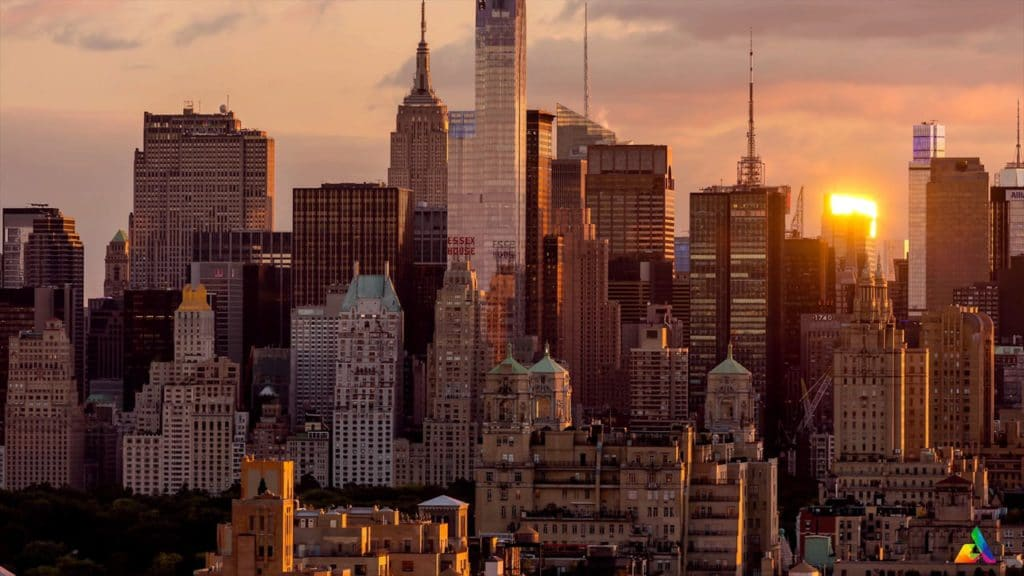 downtown New York City Timelapse video