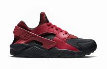 Nike Air Huarache Run Premium Black/Gym Red