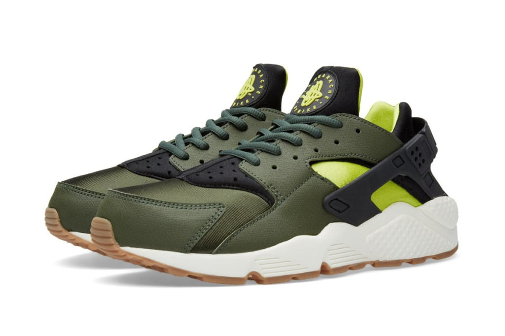 nike-air-huarache-carbon-green-black-sneakers-online-mannenstyle 1