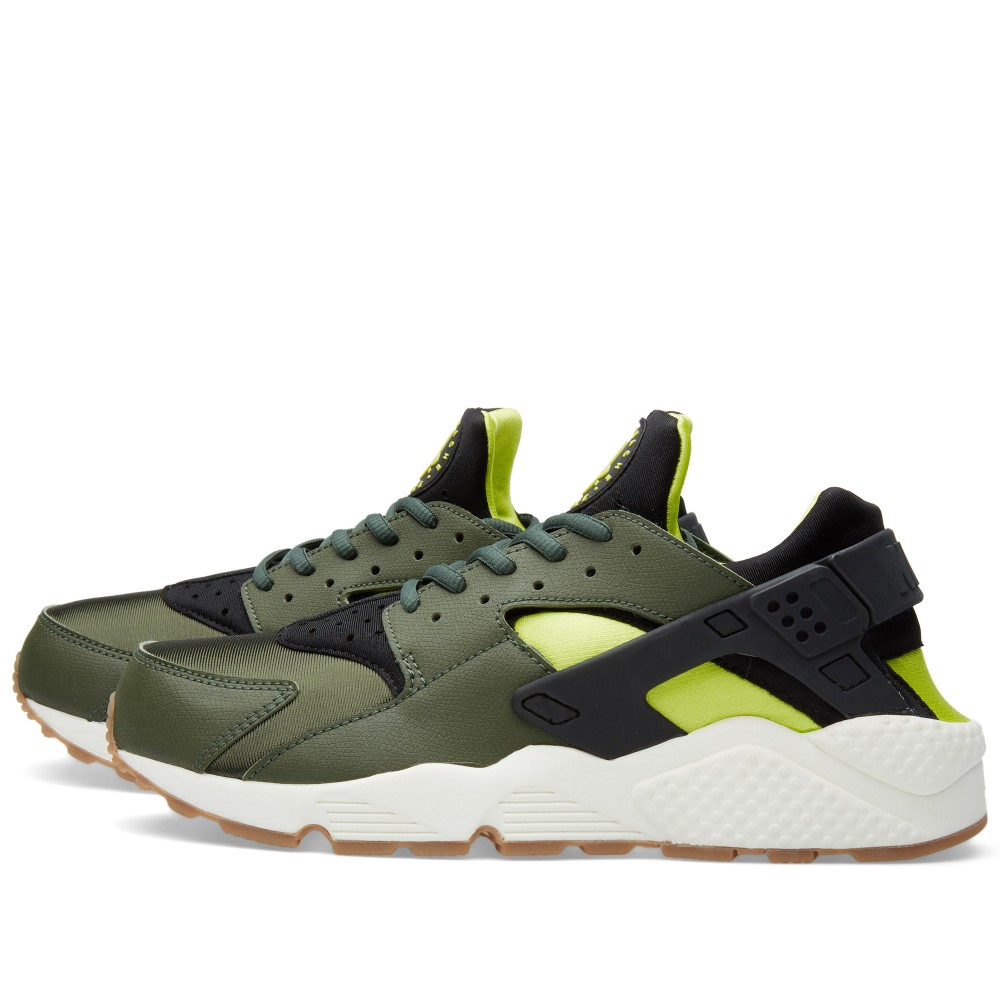nike-air-huarache-carbon-green-black-sneakers-online-mannenstyle 2
