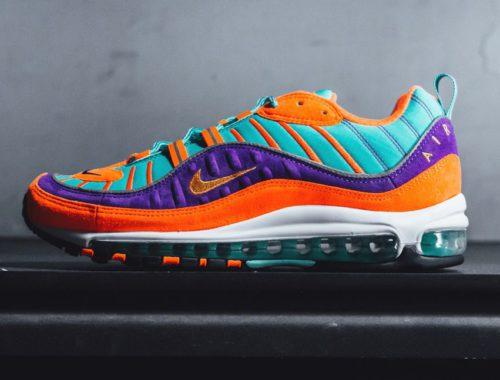 Nike Air Max 98 QS Turqoise, Orange & Purple