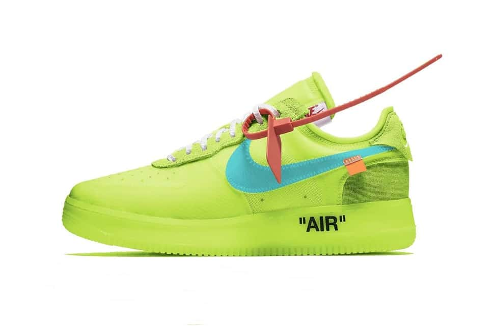 The Off White x Nike Air Force 1 Volt Is Packing Some