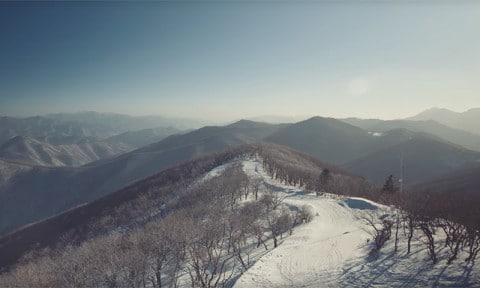 Noord-Korea SkiResort video