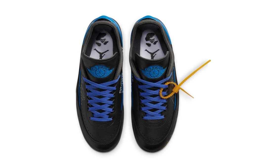 "Off-White x Air Jordan 2 Low ""Black/Blue"""