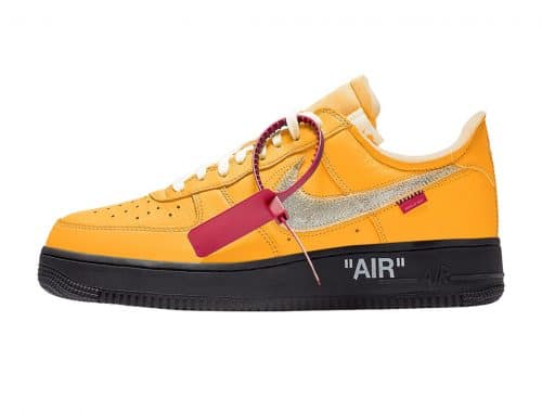 "Off-White x Nike Air Force 1 ""University Gold"" info release"