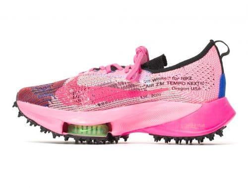 "Off-White x Nike Air Zoom Tempo NEXT% ""Pink Glow"""