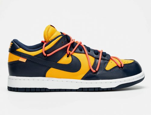 "Off-White x Nike Dunk Low ""Gold/Navy"""