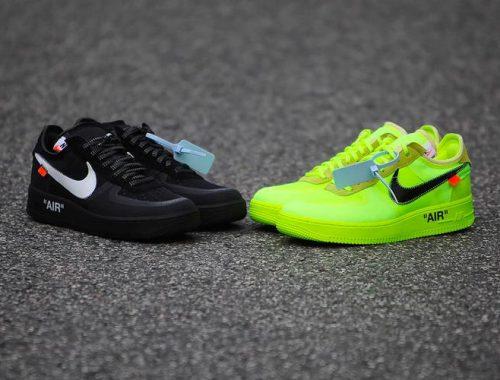 Off-White x Nike Air Force 1 Volt & Black