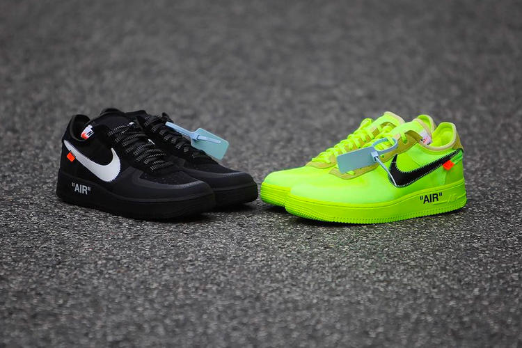 Off-White x Nike Air Force 1 Volt & Black