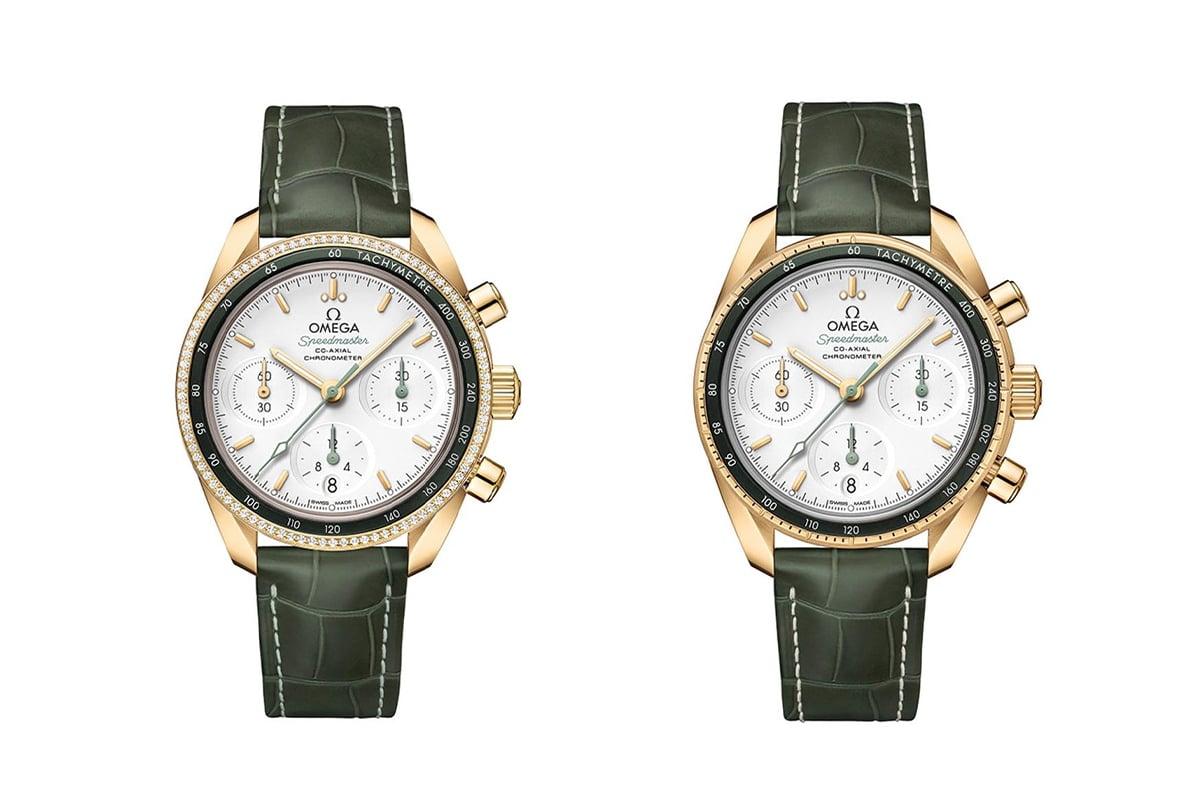 Omega Speedmaster 38mm diamanten geelgoud