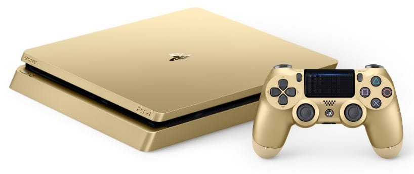 PlayStation 4 Limited Edition gold