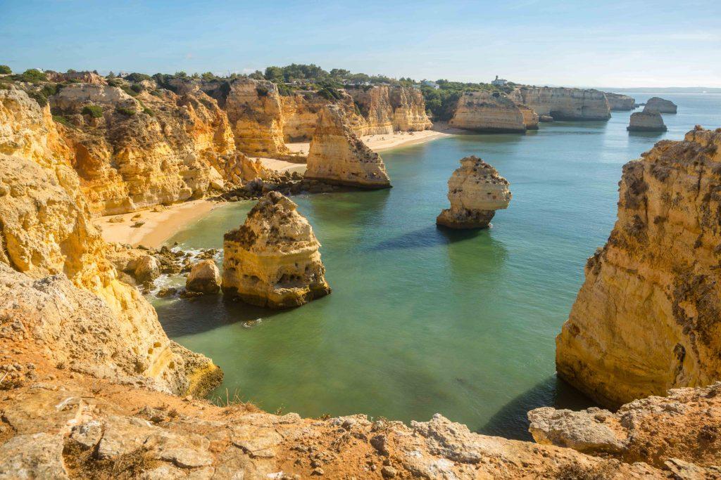 portugese stranden praia-da marinha