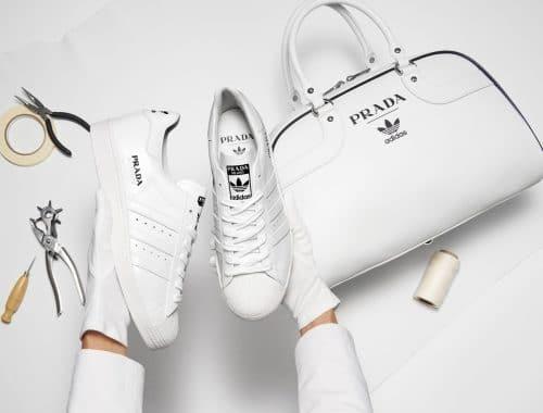 Prada x Adidas Superstar & Bowling Bag Set