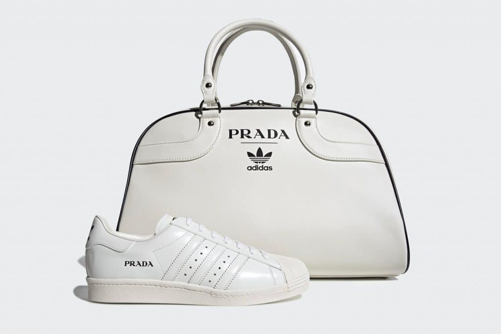 Prada x Adidas Superstar & Bowling Bag Set