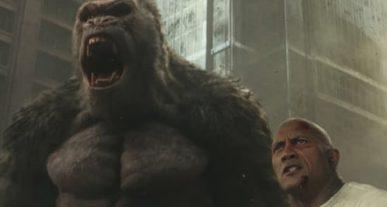 Rampage trailer bioscoop film The Rock