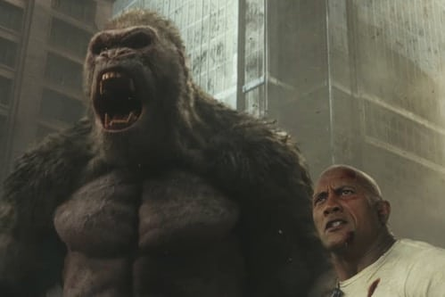 Rampage trailer bioscoop film The Rock