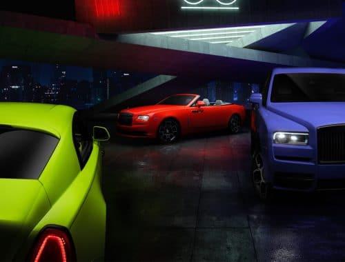 Rolls-Royce Black Badge Neon Lights Collection