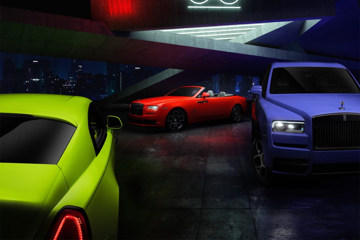 Rolls-Royce Black Badge Neon Lights Collection