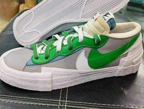 "sacai x Nike Blazer Low ""Classic Green"" sneakers"