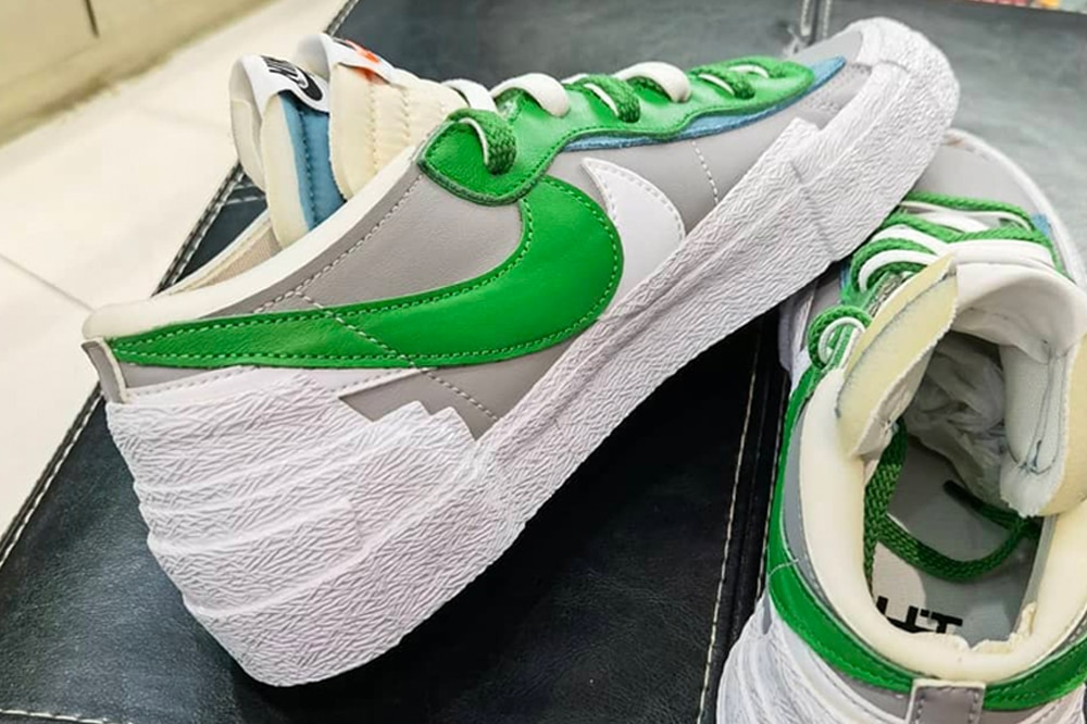 "sacai x Nike Blazer Low ""Classic Green"" sneakers"