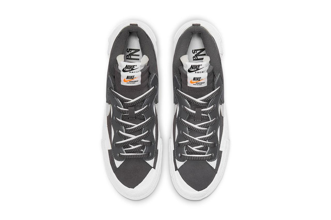 """sacai x Nike Blazer Low """"Iron Grey"""" releasedatum"""