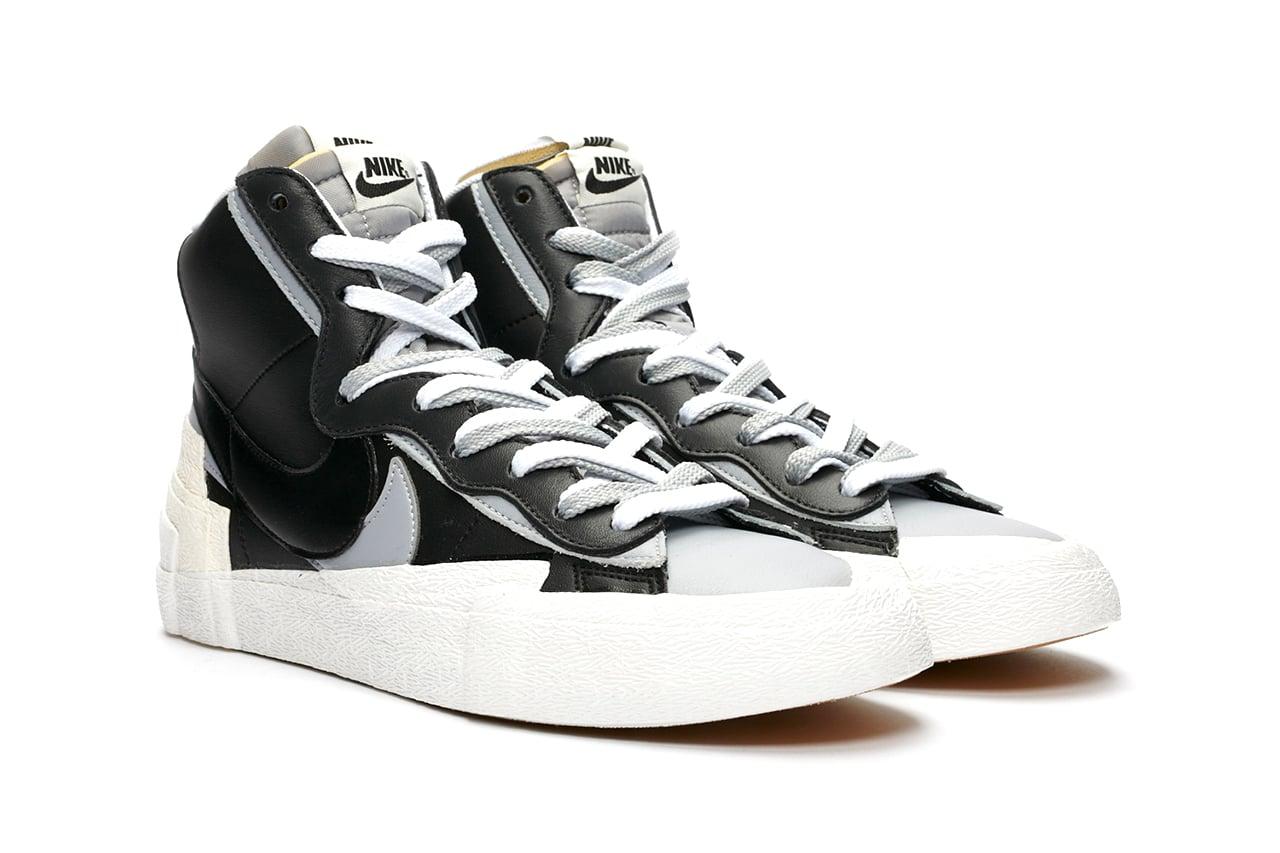 sacai x Nike Blazer Mid Black/Wolf Grey/White & White/Wolf Grey