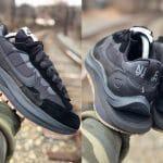 """sacai x Nike Vaporwaffle """"Black/Gum"""""""