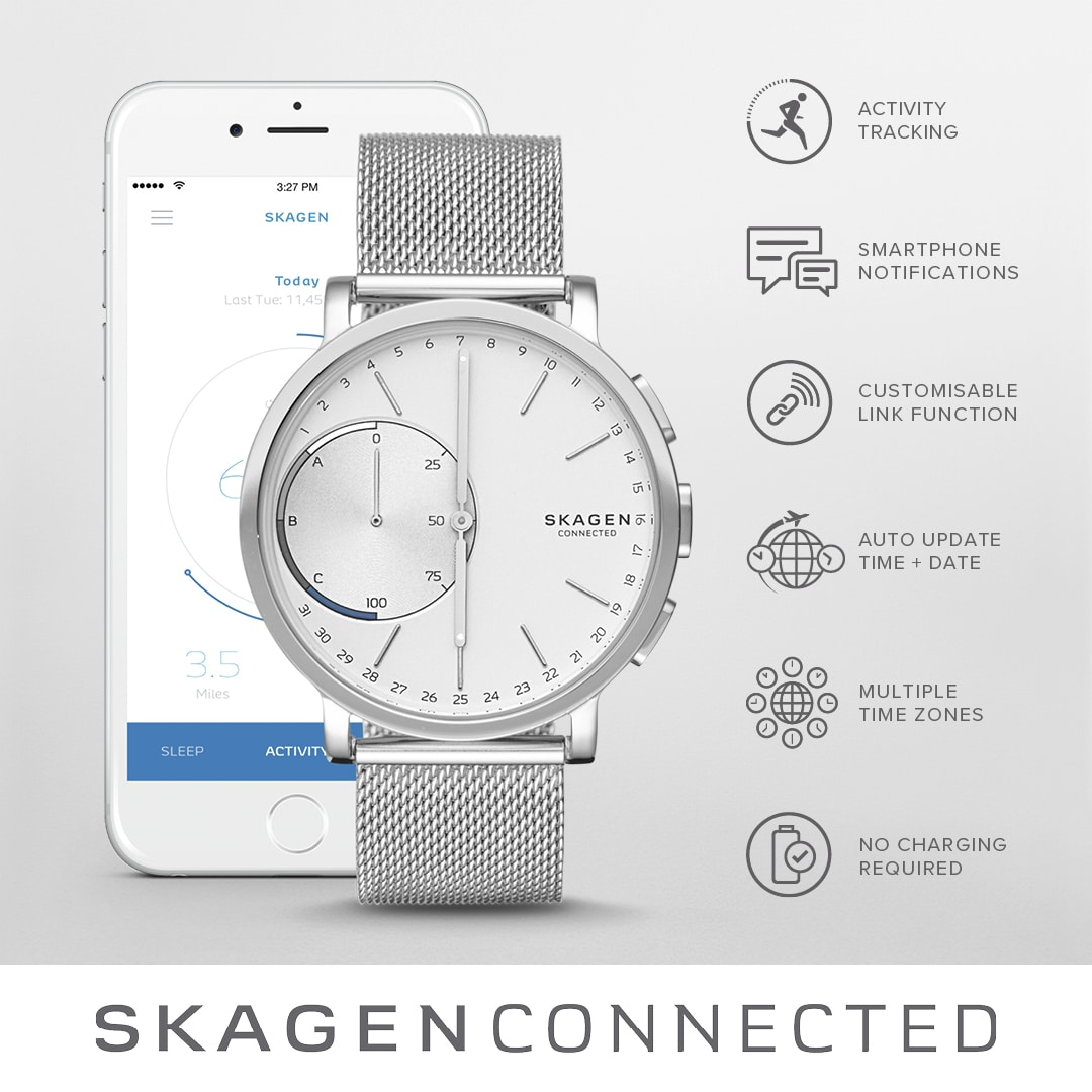 Skagen Connected hybrid smartwatch horloge