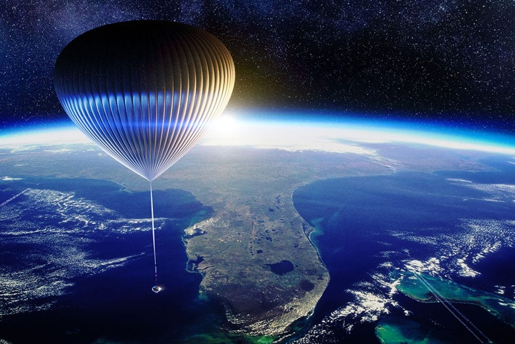 space perspective - neptune space balloon