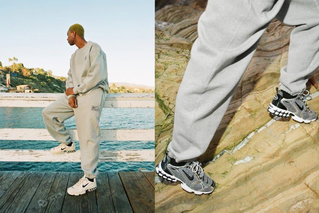 Stüssy x Nike Air Zoom Spiridon Caged 2 sneakers en kleding   MS
