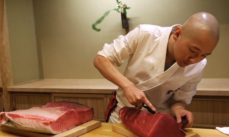 sushi master Nozomu Abe Sushi Noz New York
