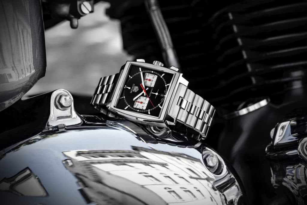 TAG Heuer Monaco Chronograph 39 met stalen armband