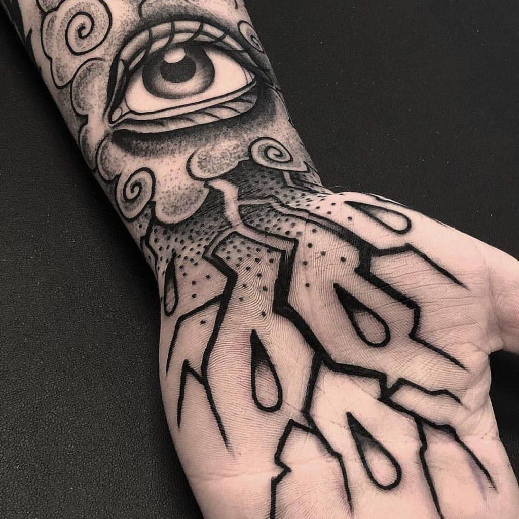 Palmtattoos tattoos binnenkant hand