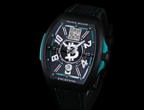 "Franck Muller Encrypto ""Free The Money. Free The World""-horloge koude opslag Bitcoin Wallet"