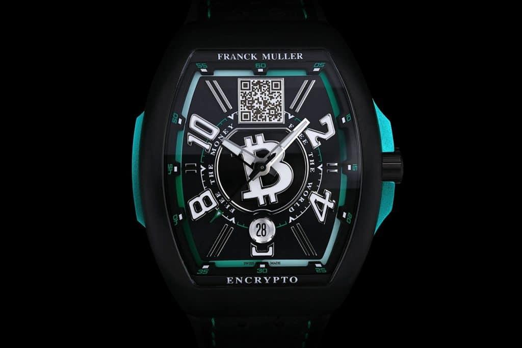 "Franck Muller Encrypto ""Free The Money. Free The World""-horloge koude opslag Bitcoin Wallet"