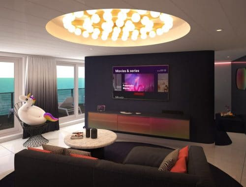 Virgin cruiseschip suites Tom Dixon